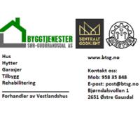 Byggtjenester Sør-Gudbrandsdal AS 311021 url btsg.no